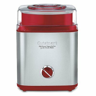 CUISINART ICE-30R Pure Indulgence Frozen Yogurt Sorbet & Ice Cream Maker, 12 Qt
