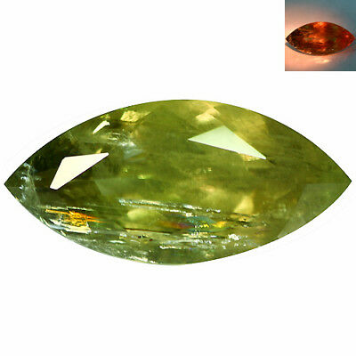 24.41Ct Superior Marquise Cut 30 x 14 mm AAA Color Change Turkish Diaspore