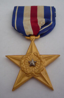 Genuine Usa Silver Star Medal