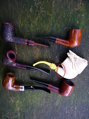 lot of used smoking pipes (defects)