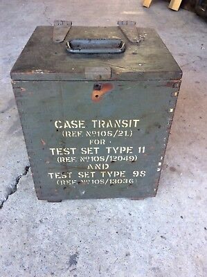 Army Artillery Antique Wooden Dovetail Box Small Vintage Timber Case