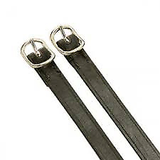 Dever Leather Spur Straps Black