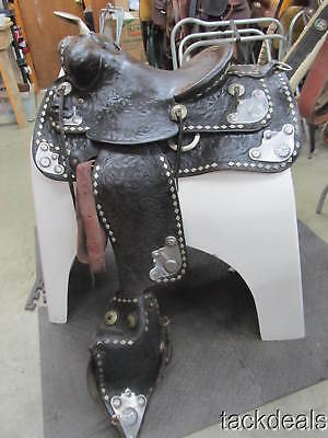 Chas P Shipley of KC MO Silver Parade Saddle Used Good Condition