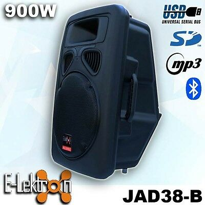 Open Box Sound System USB/SD/Bluetooth Active Loud 15 inch 900W Powered Speaker