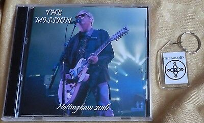 """THE MISSION, FOB + FREE CD, """"NOTTINGHAM 2016""""  (Sisters Of Mercy, Numan)"""
