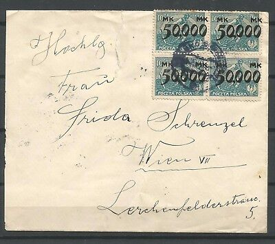 Poland,interested letter to Wien