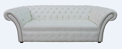 Pleasant Chesterfield Balmoral Crystal Diamante 3 Seater White Gmtry Best Dining Table And Chair Ideas Images Gmtryco