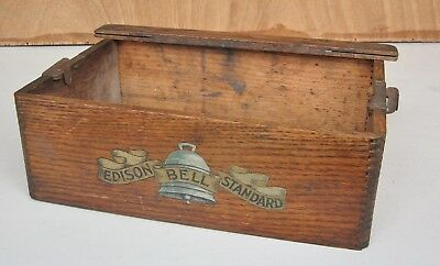 Edison Bell Phonograph  wooden  case  part  with trade-mark transfer / decal