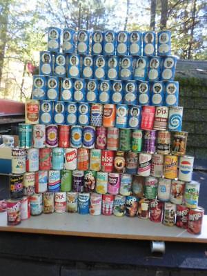 "Qty = [109] Vintage Soda / Pop Can Collection -""""multiple Photos""""-"