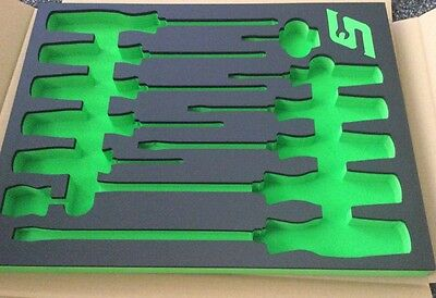 SNAP ON  GREEN screwdriver Foam DRAWER insert For TOOL  Box Chest New