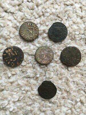 6 X 17th Century Tokens