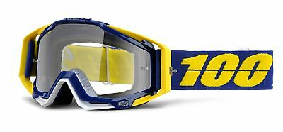 100% Racecraft MX Offroad Clear Lens Goggles Lindstrom