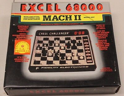 Excel 68000 Chess Challenger Model 6097 Fidelity Electronics MACH II