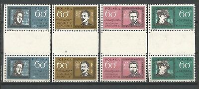 Poland,lot 2**,mnh,pairs with a empty field in the middle