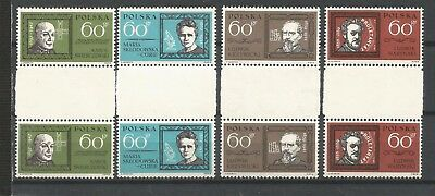 Poland,Fi:1263-1266**,mnh,pairs with a empty field in the middle
