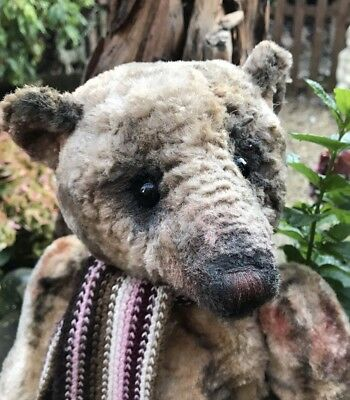 Beautiful Portobello Bear Amy Goodrich OOAK Artist Bear Christian In Chenille