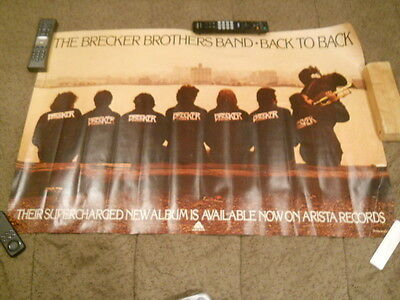 The Brecker Brothers Band - Back To Back Promotional Poster 1976
