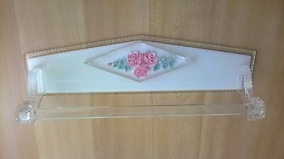 Vintage  60s  Towel Rack Wall Holder Hanger  Towel Kitchen Bathroom