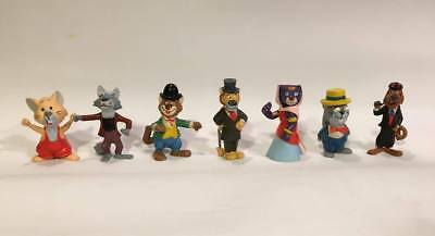 Rare AROUND THE WORLD WITH WILLY FOG, 7 PVC FIGURES MAIA&BORGES PORTUGAL 1983