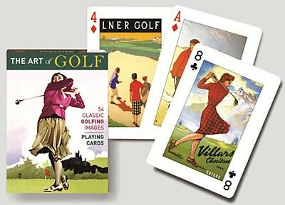The Art Of Golf set of 52 playing cards + jokers (gib)