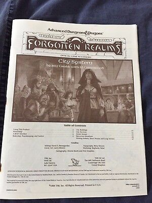 Forgotten Realms City System (booklet only)
