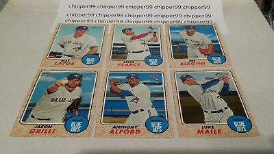 Toronto Blue Jays 2017 Topps Heritage High Number Update Set of 6 Cards AlfordRC
