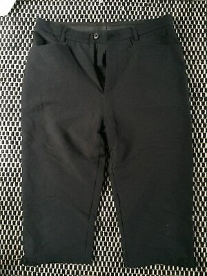 Rapha 'Fixed Shorts' 3/4 Black City Cycling Trousers - fits size 10-12 female