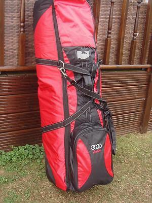 Audi  - Flight Security Golf Bag Wheeed Travel Coverall