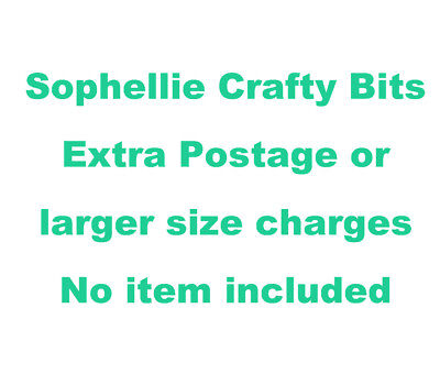 Extra charge for sticker (postage or size increase) NO ITEM ON THIS LISTING