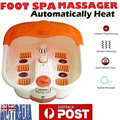 NEW Foot Spa Relaxation Feet Roller Vibration and Heat Massage Manicure Pedicure