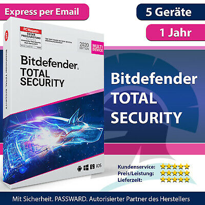Bitdefender Total Security 2019 5 Geräte (PC, Mac, Android)