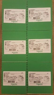 LC1D 09, 12, 18 F7 schneider 110v ac contactors 2 of each brand new & unopened