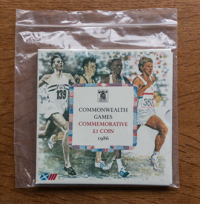 1986 Uk Commonwealth Games £2 Brilliant Uncirculated Coin - Pack