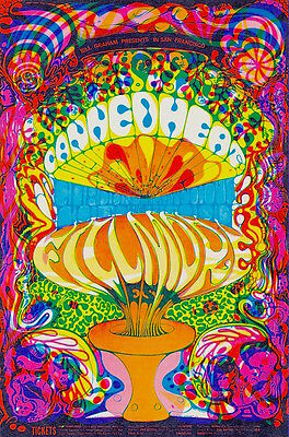 MINT/PSYCHEDELIC Canned Heat 1968 BG 139 Fillmore Poster