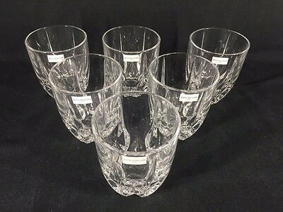 Royal Doulton Crystal 'FLAME' 6 Tumblers BOXED (ref B655)