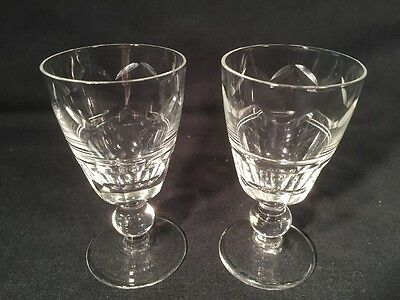 Pair Of Sherry/Liqueur Glasses (ref W543)