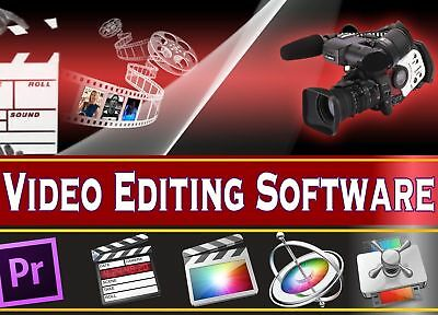 Professional Video Editing Movie Studio Full Complete Software Program Instant