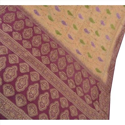 Sanskriti Antique Vintage Indian Saree 100% Pure Silk Embroidered