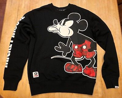 RARE Women's A Bathing Ape Aape Disney Mickey Mouse Special Edition Sweater S