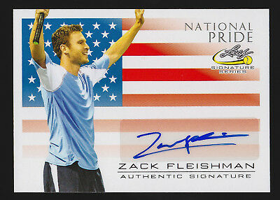 2017 Leaf Signature Series Tennis Zack Fleishman national pride autograph -AK