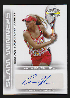 2017 Leaf Signature Series Tennis Anna Kournikova autograph regular -AK