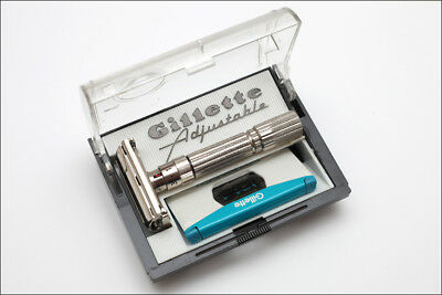Gillette Fatboy - E4 - 1959 - Adjustable Safety Razor - Collector State