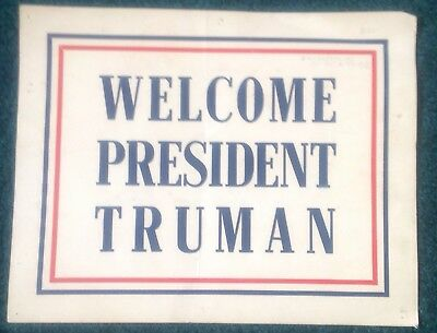 Harry Truman Whistle Stop Campaign Sign