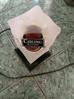 Carling Black Label Lager Illuminated Pump Font Bar Pub Rare Man Cave