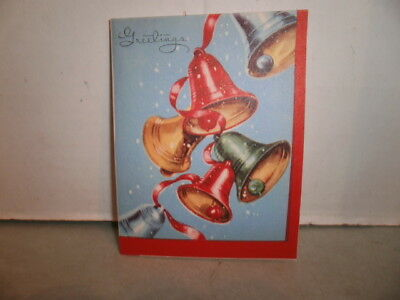 Vintage NOS 1950's Christmas Cards Unused Lot of 5