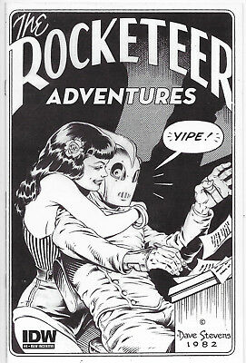 Rocketeer Adventures #4 Cover D B&W Incentive IDW Comics