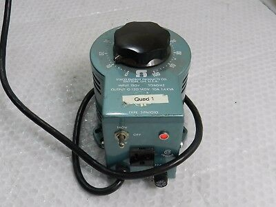 Vintage Staco Type 3PN1010 Variable Auto Transformer @F1