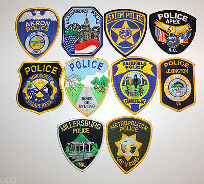 Patch Police Usa Set 10 Patches Original