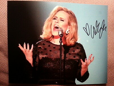 Adele Original Hand Signed Autograph 8 x 10 Photo with COA