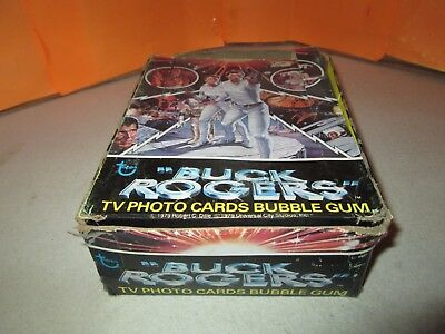 Vintage 1979 Topps Buck Rogers TV Photo Cards & Gum 31-SEALED Pack Wax Box
